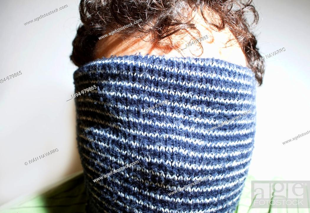 Stock Photo: Man with a scarf in his head.