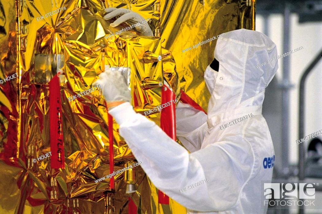 Stock Photo: Telecommunications research.