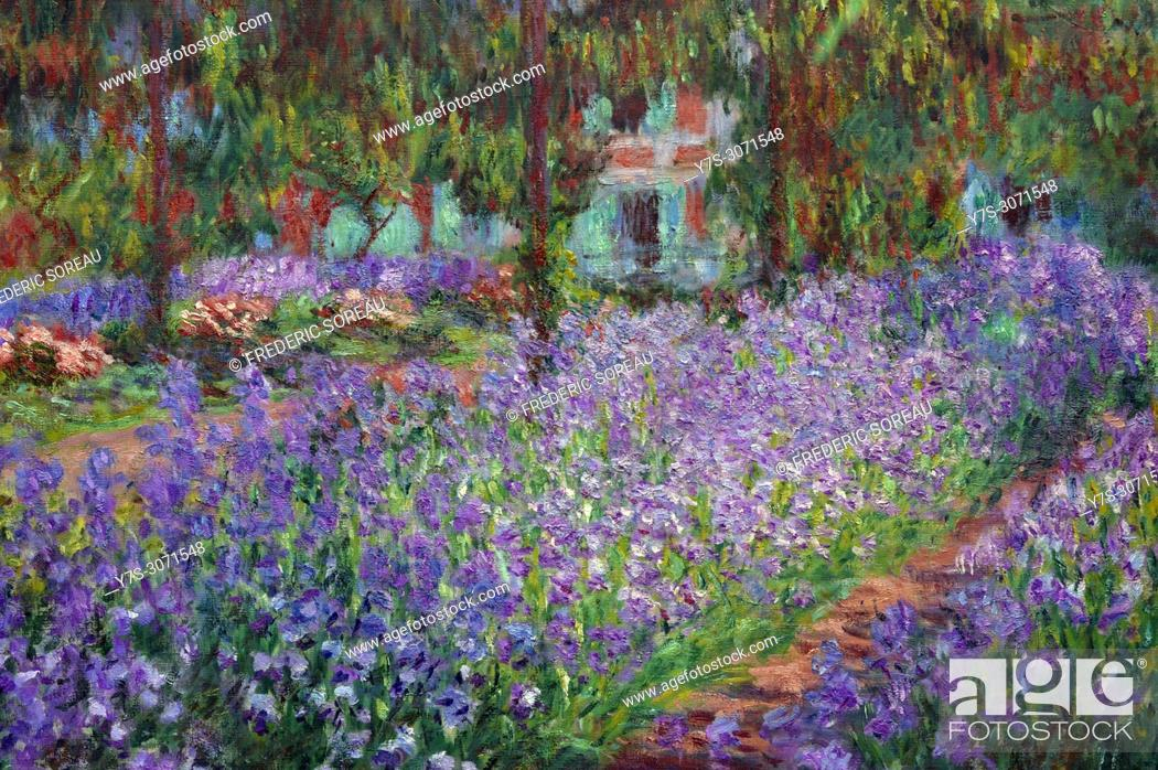 Le Jardin De L Artiste A Giverny 1900 Oil On Canvas Claude