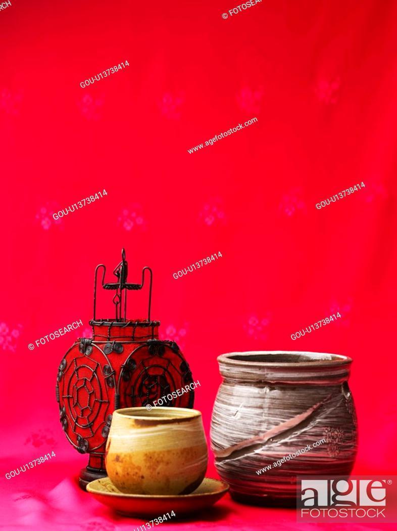 Stock Photo: beverage, ceramic cup, cuisine, food, lamp, tea-things.