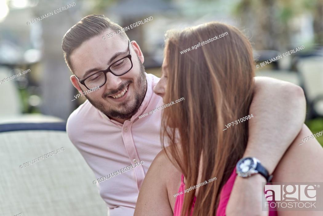 Stock Photo: Chersonissos, Crete, Greece, couple.