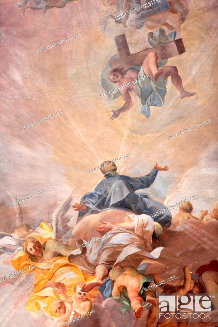 Apotheosis of St, Ignatius of Loyola and the allegory of the