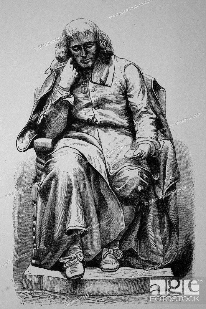 Baruch De Spinoza 1632 1677 Dutch Philosopher Statue In