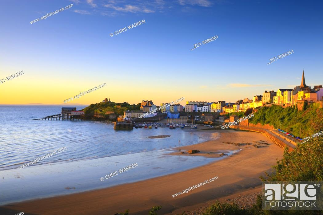 Stock Photo: Tenby Harbour Tenby Pembrokeshire Wales.