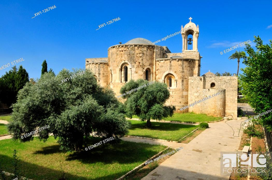 Stock Photo: historic maronite church at Byblos, Unesco World Heritage Site, Jbail, Lebanon, Middle east, West Asia.
