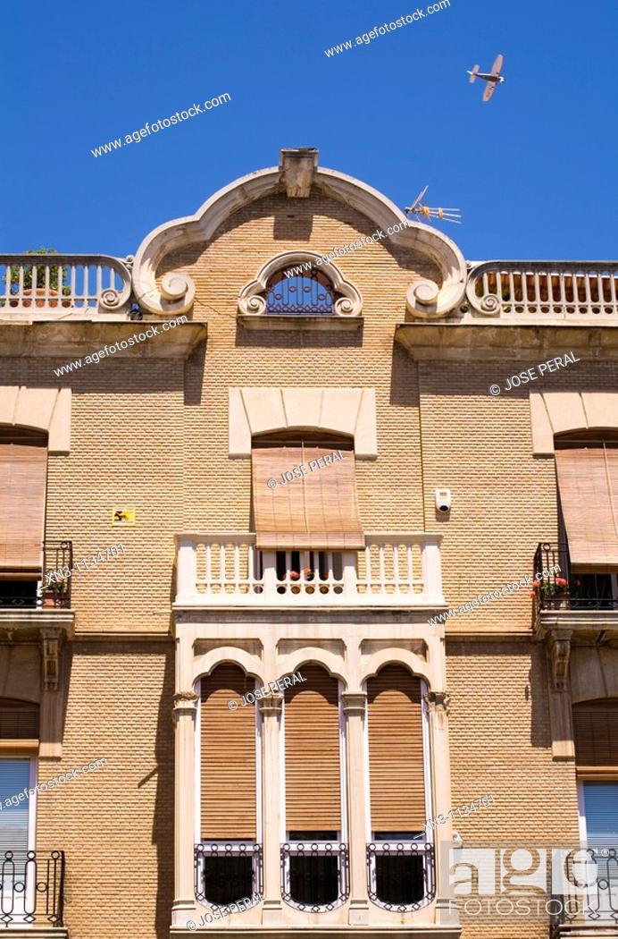 Stock Photo: Typical Architecture, Plaza del Cardenal Belluga, Murcia capital, Spain.