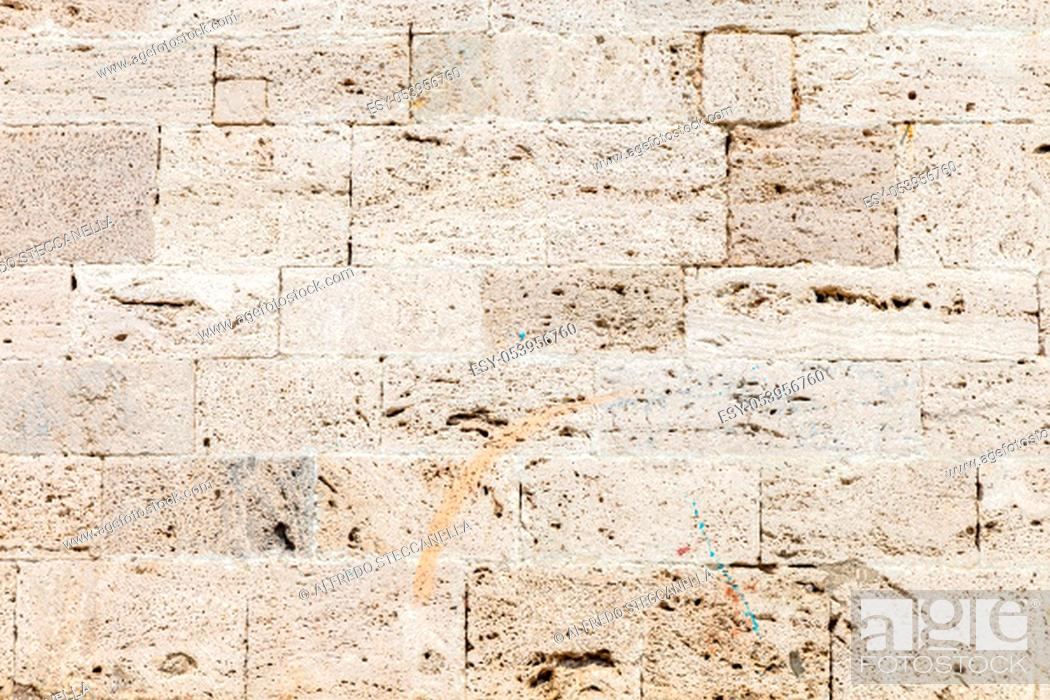 Stock Photo: Abstract Stone Wall Background Image. Great for background use.