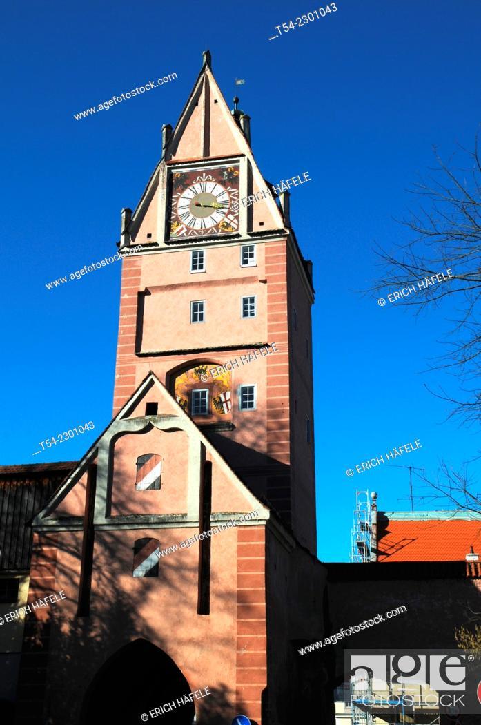 Stock Photo: The Kempten Gate in Memmingen.