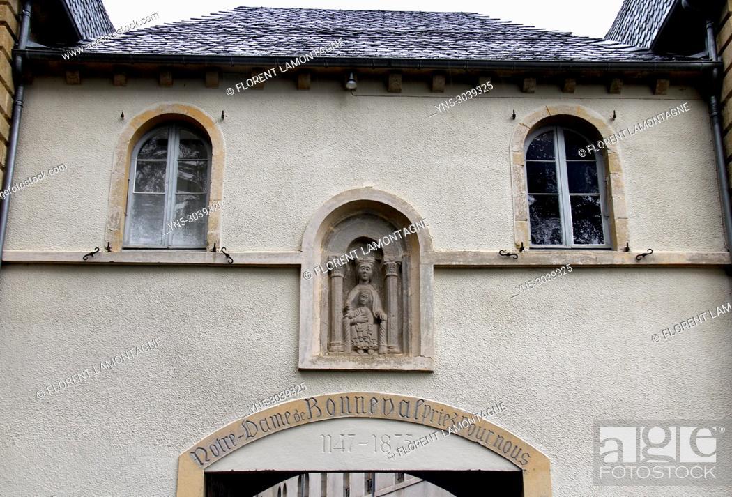 Stock Photo: Abbey of Notre-Dame de Bonneval au Cayrol in Aveyron department (region Midi-Pyrénées).