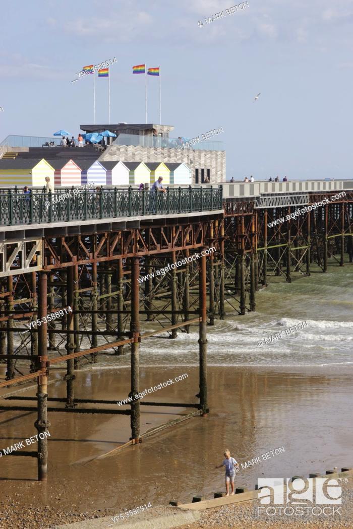 Stock Photo: Hastings Pier East Sussex UK.