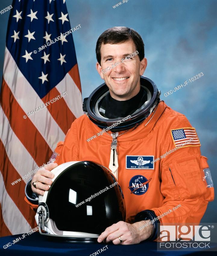Stock Photo: Astronaut Rick D. Husband, mission commander.