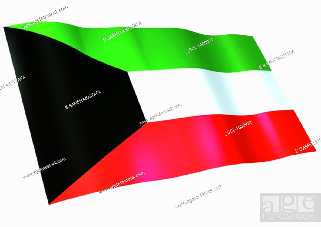 Stock Photo: flag of Kuwait.