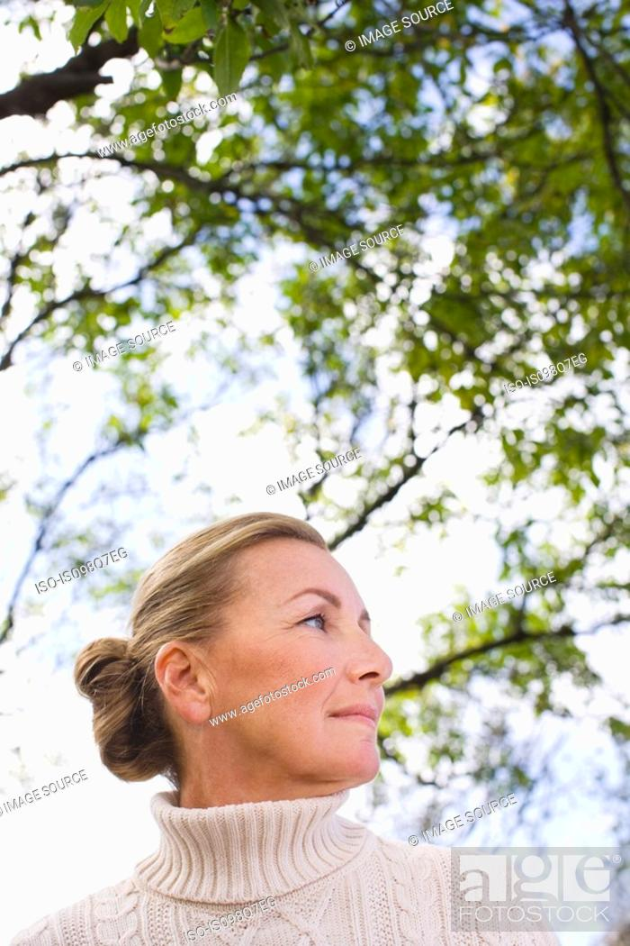 Stock Photo: Woman outdoors.