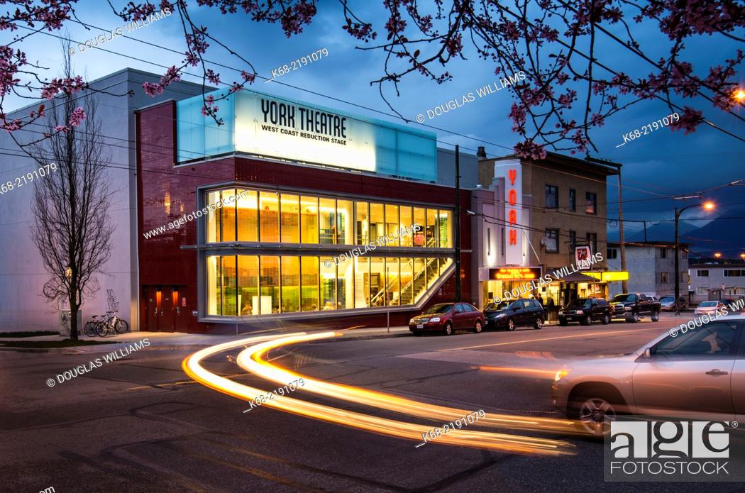 Stock Photo The Recently Red York Theatre On Commercial Drive In Vancouver Bc Canada