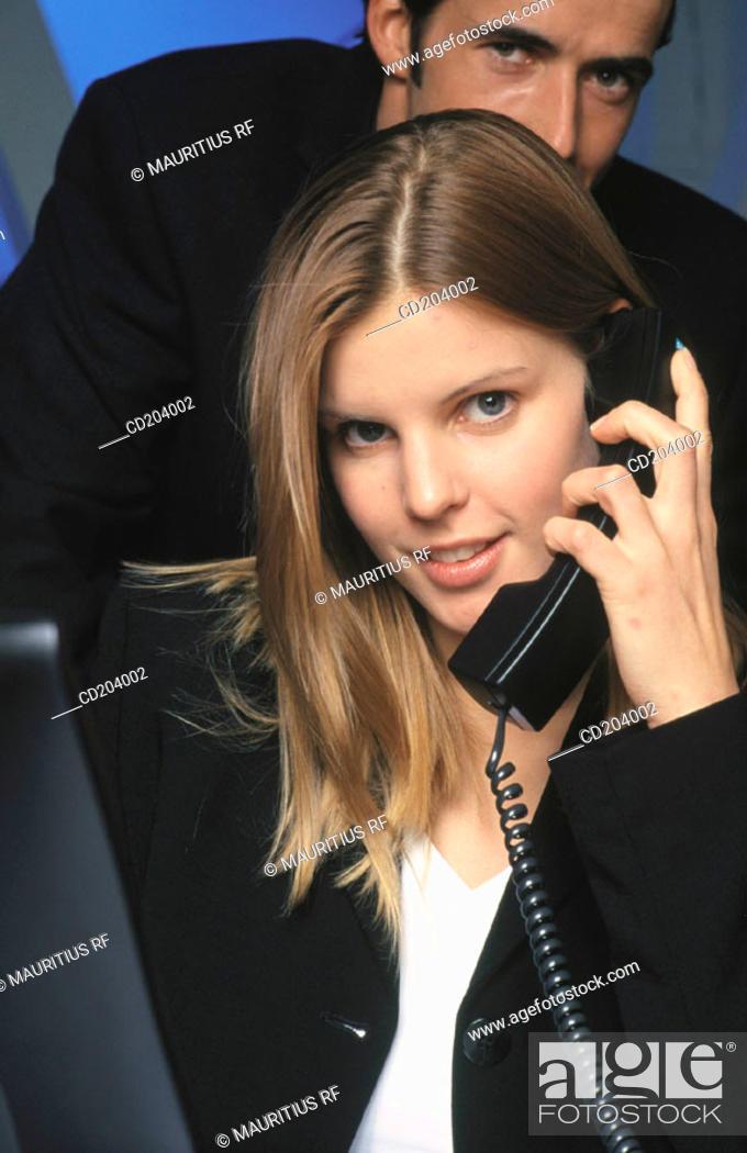 Stock Photo: Business, Telephone, Communication.