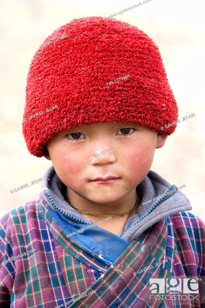 Stock Photo: Bhutanese child.