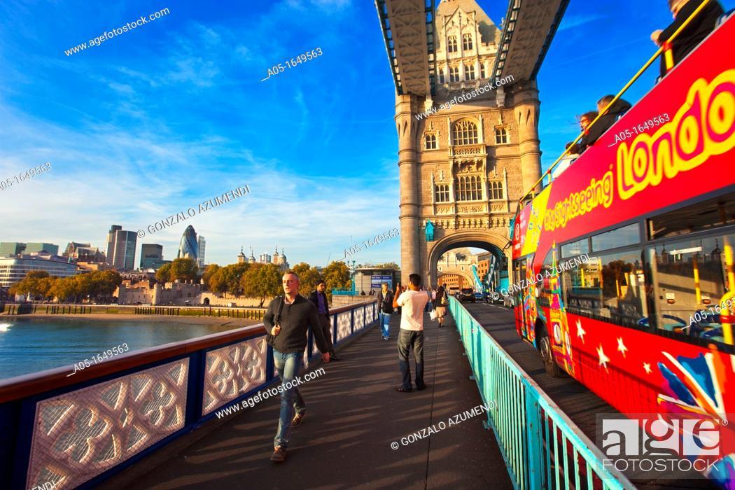 Stock Photo: Tower Bridge and River Thames England, London, UK  United Kingdom.