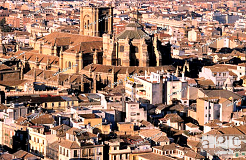 Stock Photo: Spain, Andalusia, Granada, the cathedral.