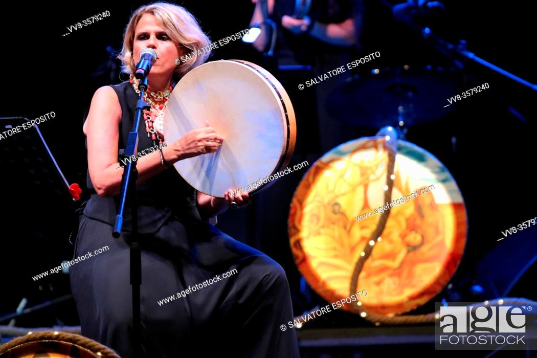 Stock Photo: MUSICA IDENTITÀ RIVOLUZIONE Festival of ethnic and author music, concert with Tosca . In photo Tosca.