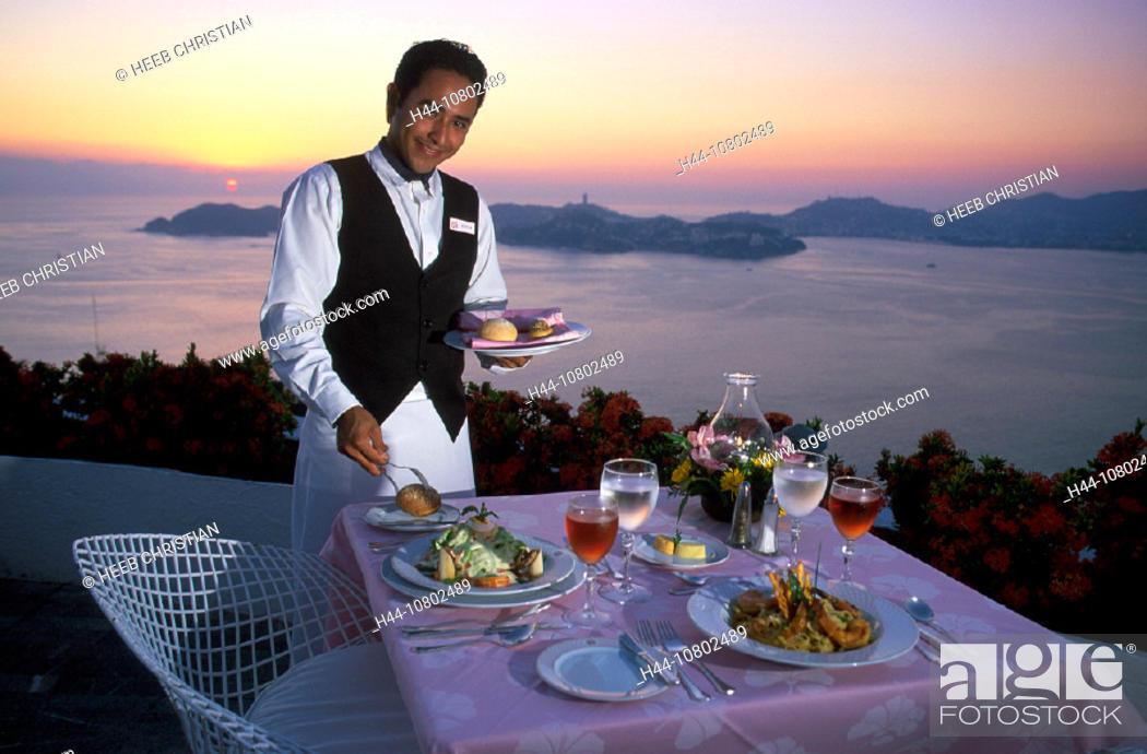 Acapulco, Bella Vista, catering, coast, cuisine, desk, dishes, dusk ...
