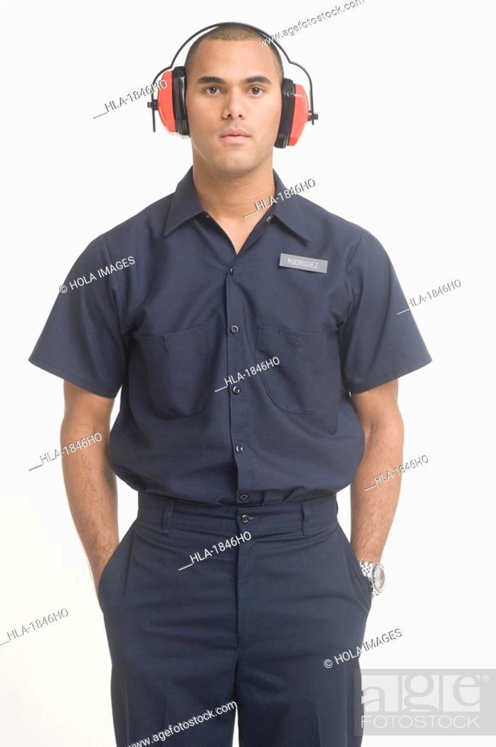 Imagen: Portrait of airport ground traffic controller.