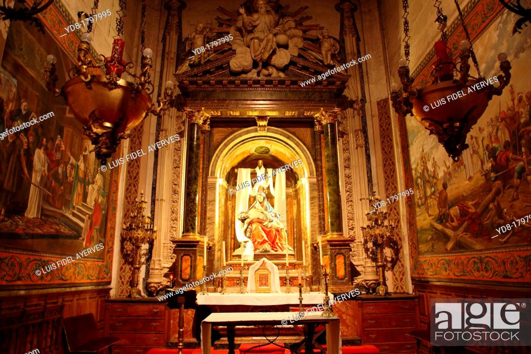 Stock Photo: Inside the Cathedral, Salamanca, Castilla y Leon, Spain, Europe.