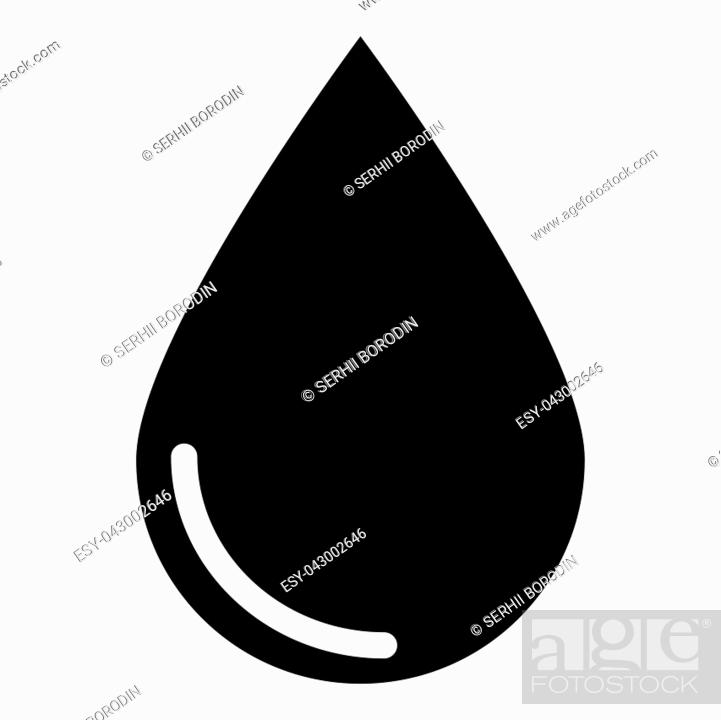 Vector: Drop icon icon black color vector illustration isolated.