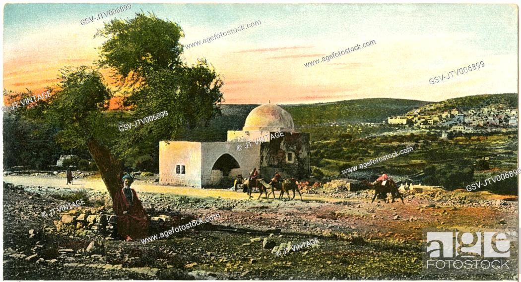 Imagen: Rachel's Tomb, Bethlehem, Postcard, circa 1910.