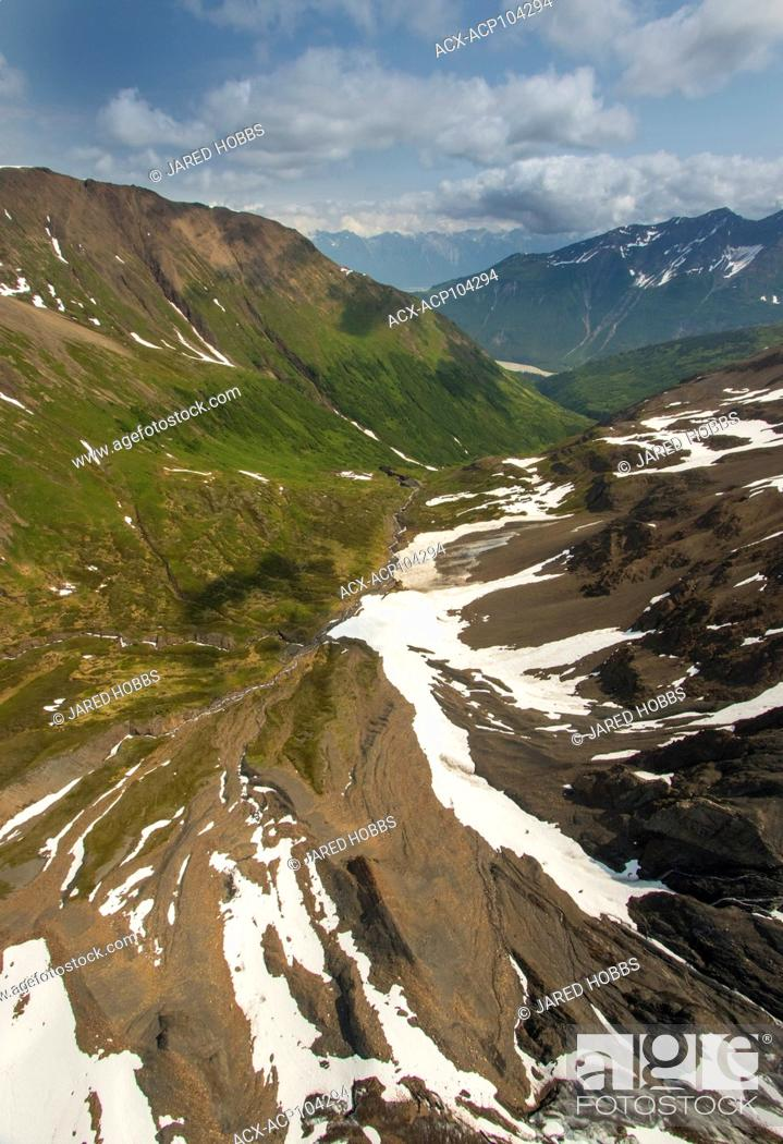 Photo de stock: Glacier creek, Icefields, Porcupine Creek, Tundra, USA.