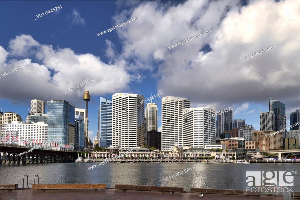 Stock Photo: Sydney Australia. Darling Harbour Convention Center.