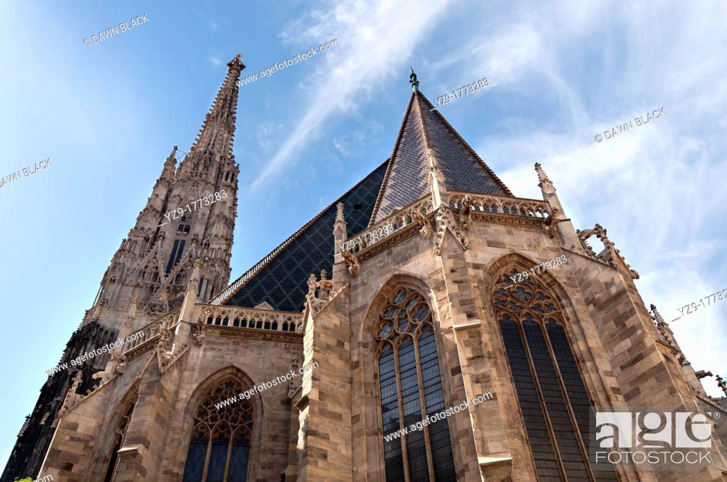 Stock Photo: Spire of Stephansdom, Vienna, Austria.