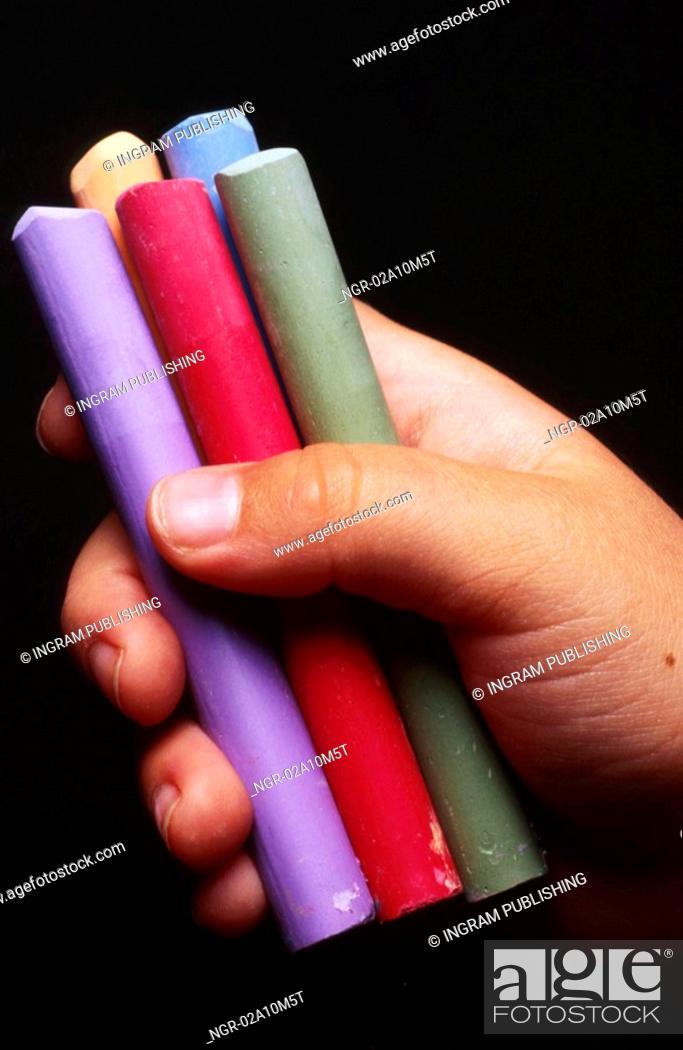 Stock Photo: Chalk in Hand.