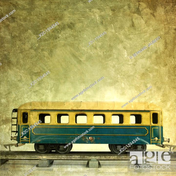 Stock Photo: Old train waggon, vintage look.