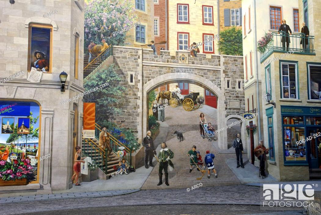 Wallpainting Quebec City Quebec Canada La Fresque Des Quebecois
