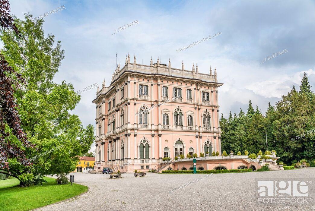 Stock Photo: Villa Andrea Ponti, Varese, Italy | Ville Andrea Ponti, Varese, Italien.