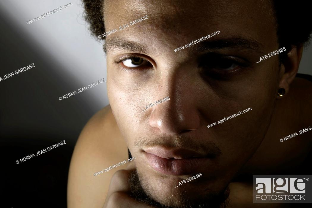 Stock Photo: A portrait of a young man.