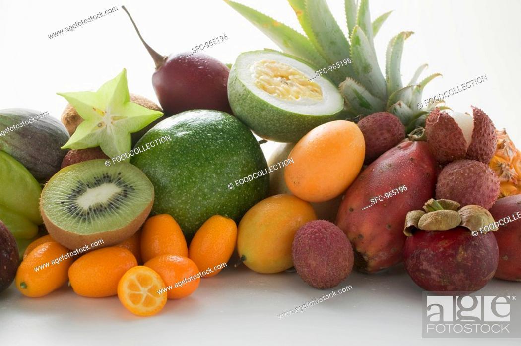 Stock Photo: Exotic fruit still life.