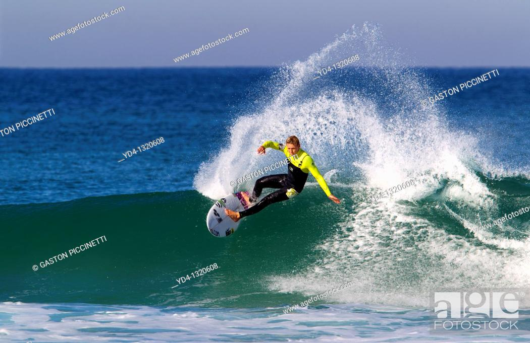 Stock Photo: Surfer in Hossegor, Quiksilver Pro France, South West Cost, France.