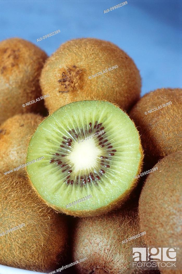 Stock Photo: New Zealand - Fruit - Kiwi, close-up.