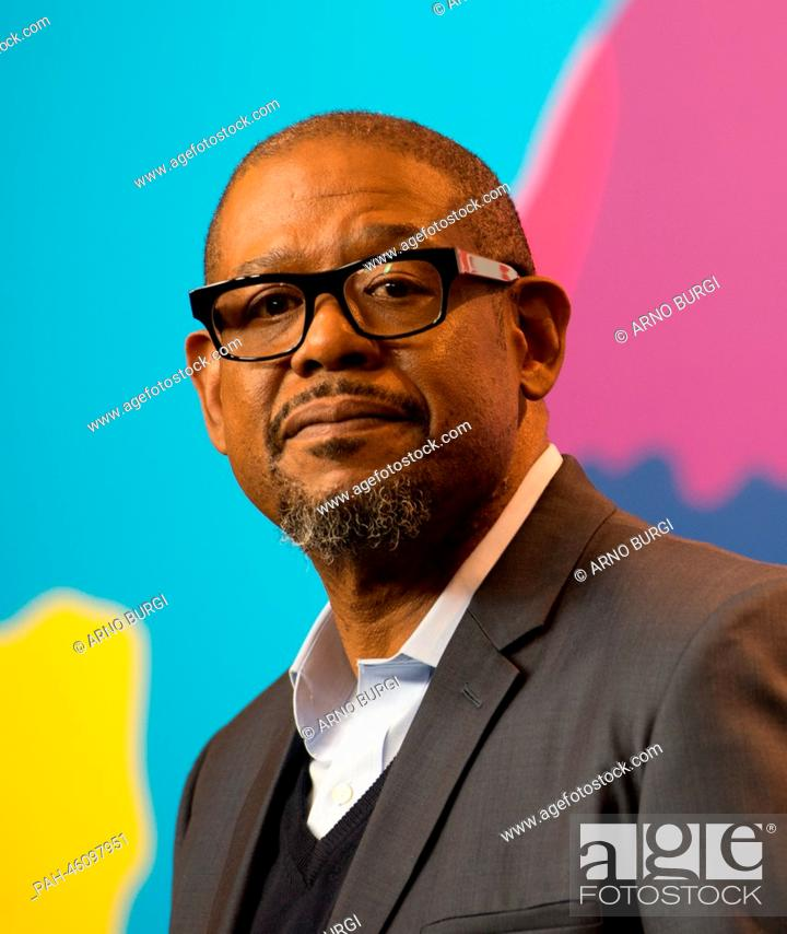 Stock Photo: US actor Forest Whitaker attends the press conference for 'Two Men in Town' ('La voie de l'ennemi') at the 64th annual Berlin Film Festival, in Berlin, Germany.