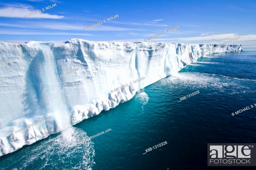 Stock Photo: Views of Austfonna, an ice cap located on Nordaustlandet in the Svalbard archipelago in Norway  MORE INFO Austfonna is the largest ice cap by area and with 1.