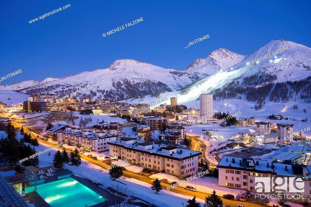 Sestriere Ski Resort Site Of 2006 Winter Olympics Turin Province