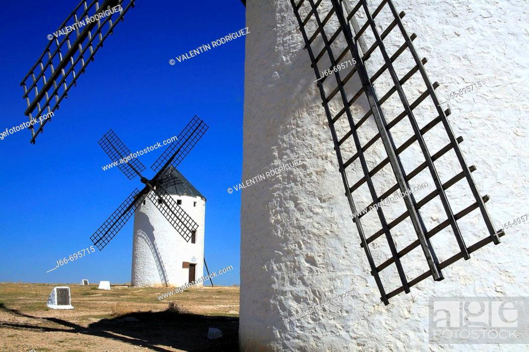 Stock Photo: Windmill, Campo de Criptana. Ciudad Real province, Castilla-La Mancha, Spain.