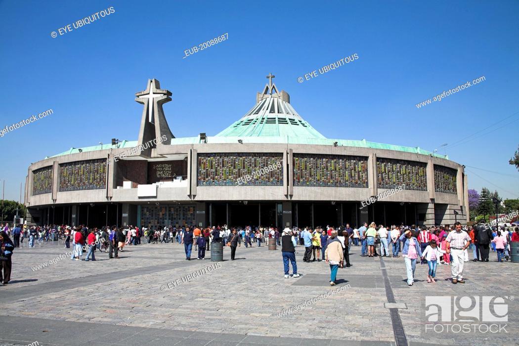Stock Photo: Basilica de Nuestra Senora de Guadalupe, Our Lady of Guadalupe.