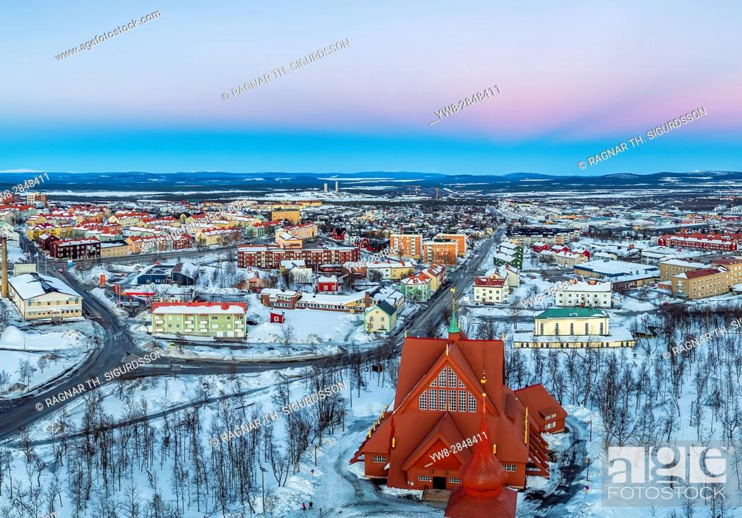 Stock Photo: Kiruna Church, Kiruna, Lapland, Sweden.