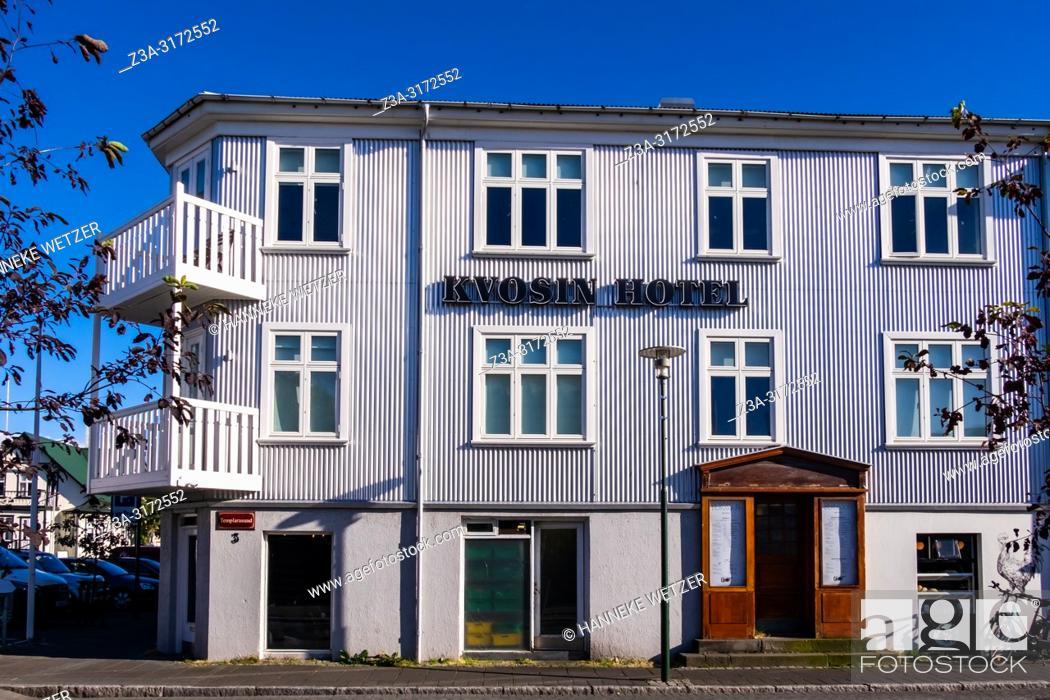 Stock Photo: Kvosin hotel in Reykjacik, Iceland.
