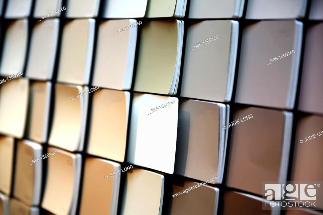 Stock Photo: Paint Color Chip Samples.