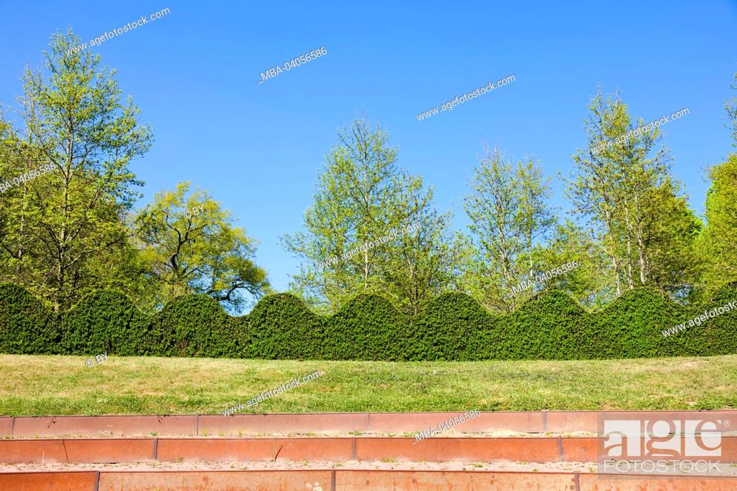 Stock Photo: stand in the castle grounds, Cormatin, France.