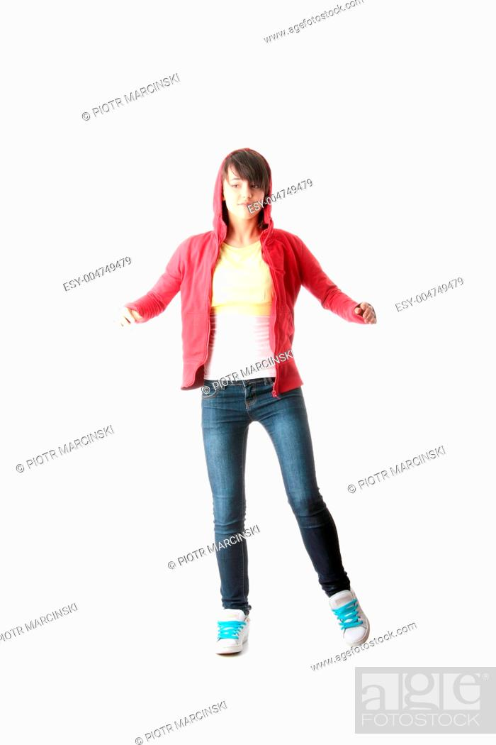 Stock Photo: Young pop dancer.