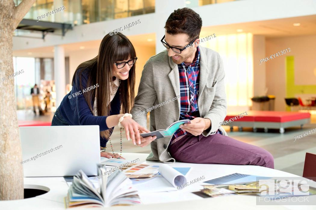 Stock Photo: Designers working in an office.